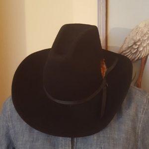 Rockmount Ranch Wear Black Wool Cowboy Hat